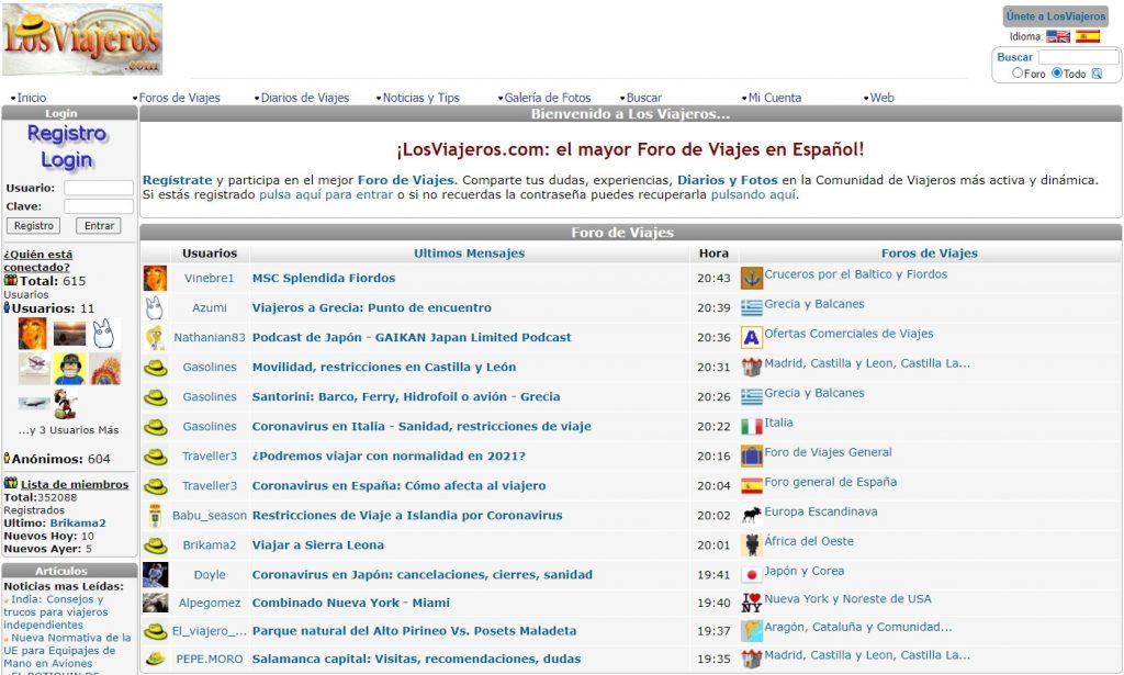 Portada de LosViajeros.com