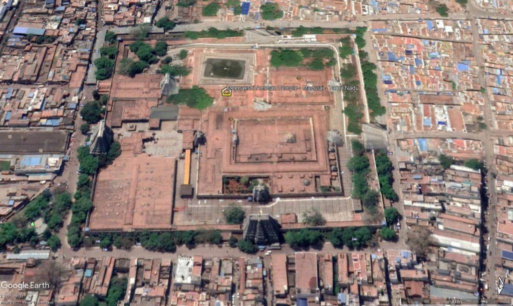 Vista aérea Templo Meenakshi Amman – Madurai, Sur de India